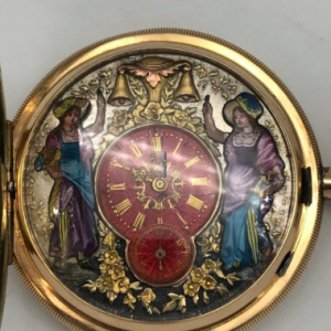 jacquemart 1/4 repetition sonnerie gold gousset pocket watch