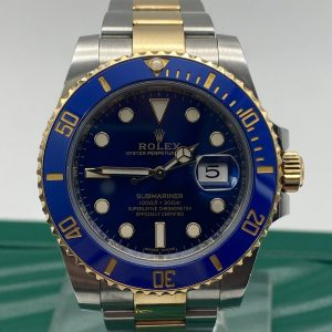 Rolex SubMariner Blue ref 116613LB 2018 Full set Achat or