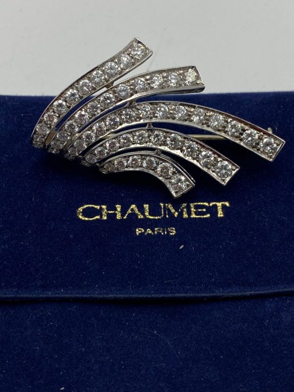 Broche Chaumet Diamants or 18K achat or