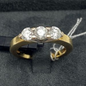 Bague 1 carats diamants 0,35X3 carats