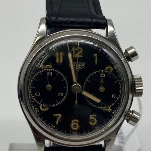 Heuer Military Big Eyes Chronographe Vintage