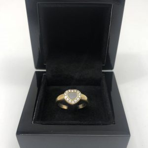 Bague chopard coeur or jaune happy diamants