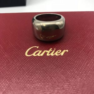 Bague Cartier Bandeau or blanc