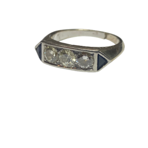 Bague art deco platine et diamants 0,70 carats