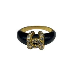 Bague Cartier Vintage Diamants onyx